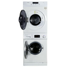 Equator Compact 13lb Stackable Set Washer 824 1200 RPM High Effi and Dryer 860