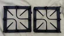 Cast Iron Grate for GE Gas Stove   New Old Stock  never used  Set of 2  black