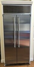 Marvel M36SSWS 36 Inch Built In Counter Depth Side by Side Refrigerator