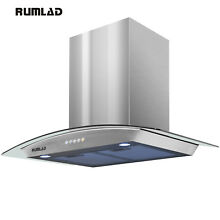 30 Stainless Steel Wall Mount Range Hood Stove Vent Fan with LED Control Kitchen