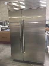 BI48SSPH SUBZERO 48  SIDE BY SIDE NO DISPENSER PRO HANDLE DISPLAY MODEL