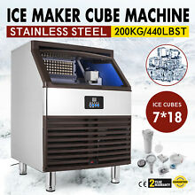 Ice Cube Making Machine Commercial 440lbs 24h Ice Cube Maker