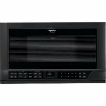 Sharp R 1210 1 1 2 Cubic Foot 1100 Watt Over the Counter Microwave  Black New
