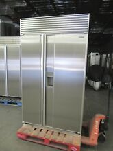 SUB ZERO 48  MODEL 690 STAINLESS STEEL ICE WATER DOOR BUILT IN REFRIGERATOR
