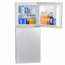 4 2 cu ft AC DC 12V 24V Solar Powered Fridge Freezer Camp Outdoor Refrigerator
