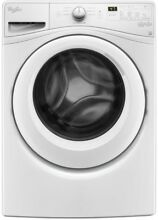 Whirlpool 4 5 cu  ft  Stackable White Front Load Washing Machine with Adapative