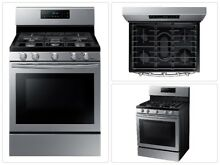 NEW Samsung Stainless Steel 5 Burner Gas Range Single Wall Oven 30   6 cu ft