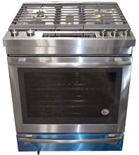 Jenn Air JGS1450DS 30  Euro Style Stainless Steel Slide In Gas Range