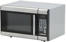 Kitchen Defrost Stainless Steel 1 0 cu ft Countertop Microwave with Clock Timer