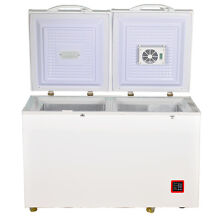 Double Door 7 5 cu ft AC DC Solar Energy Chest Fridge Freezer Compressor Cooler