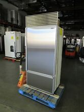 SUB ZERO 36  BOTTOM MOUNT BUILT IN REFRIGERATOR FLAWLESS STAINLESS STEEL DOORS