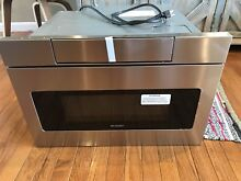 24 IN  1 2 CU  FT  950W SHARP STAINLESS STEEL MICROWAVE DRAWER OVEN  SMD2470AS