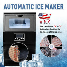 38KG Black Stainless Steel Commercial Bar Ice Cube Maker Ice Making Machine