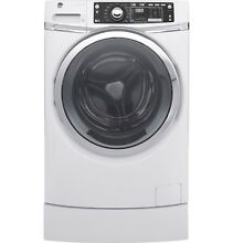 GE GFW490RSKWW 4 9 cu  ft  RightHeight  Design Front Load Washer w  Steam