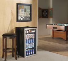 Beverage Cooler Mini Fridge Refrigerator Beer Soda Wine Door Large Glass Display