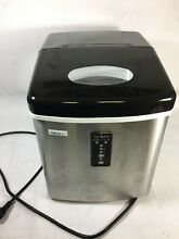 Ice Maker Machine Compact Countertop Portable Dispenser 28Lb  Stainless Steel