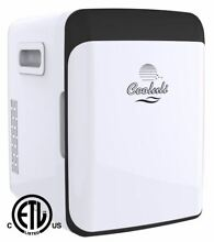 Cooluli Mini Fridge Electric Cooler and Warmer  15 Liter   18 Can  AC DC   White