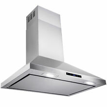 36  Stainless Steel Wall Mount Range Hood Touch Screen Display Vents  Y RH0172