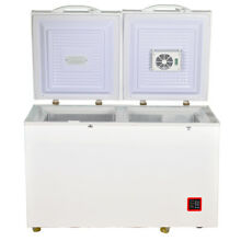 7 5 cu ft Dual Zone Solar Chest Freezer 12V 24V AC DC Off grid Home Outdoor Camp