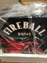 NEW Fireball Beverage Cooler Small Mini Refrige Glass Door Fireball Whisky