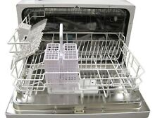 SPT Countertop Dishwasher Stainless Steel Interior  Dish Rack Silverware Basket