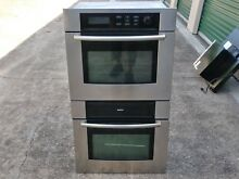 BOSCH HBN755AUC 700 SERIES 27  DUAL STAINLESS  WALL OVENS   EXCELLENT CONDITION