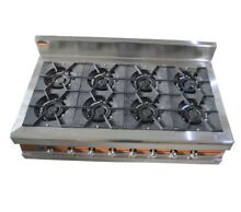 Stainless Steel 8 Burners Stove Cooking Household Industry Gas Using Efficiently