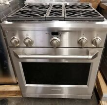GE MONOGRAM 30  PRO STYLE DUAL FUEL RANGE STAINLESS STEEL GENTLY USED