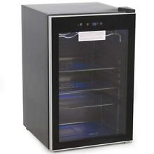 DELLA 048 GM 48198 Beverage Wine Cooler Mini Refrigerator  Digital LED  Black