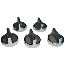 Knob Kit Range Electric New Wolf Burner Model in Stainless Steel  5 Pack