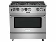 36 Inch Pro Style Gas Range with 4 6 cu  ft  PowR Convection Oven