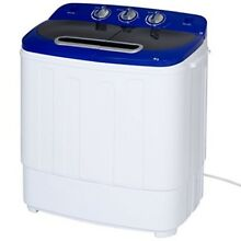 Portable Washer and Dryer with Hose  Compact Mini Twin Tub Spin Cycle 13lbs