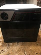 SHARP HALF PINT MICROWAVE R 4060 GREAT FOR DORM ROOM  OFFICE  RV WORKS EXCELLENT