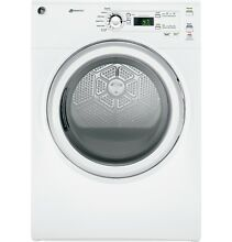 GE White Long Vent 7 0 cu  ft  Electric Dryer GFDL110EHWW