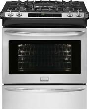 Frigidaire 30  Stainless Steel Slide in Dual Fuel Range FGDS3065PF