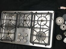 GE Profile JGP975SEKSS Built In Gas Cooktop Stainless Steel 36  5 Burners