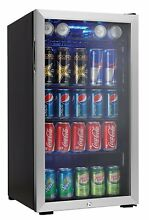 120 Can Glass Door Refrigerator Mini Fridge Beverage Cooler 3 3 cu  ft
