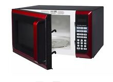 Hamilton Beach 0 9 cu ft  Microwave Oven  Red  Stainless Steel Dorm College