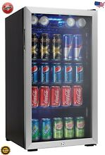Dorm Fridge Beverage Center Soda Beer Bar Mini Cooler Stainless Steel Rec Room