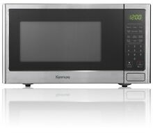 New Kenmore 0 9 cu  ft  Microwave Oven Stainless Steel for Dorm Room Space Saver
