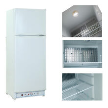 8 0 cu ft 2 way 110V Propane Gas Refrigerator LPG Fridge Freezer Camper Outdoor