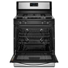 Whirlpool 5 1 cu  ft  Gas Range with Under Oven Broiler  WFG320M0BS