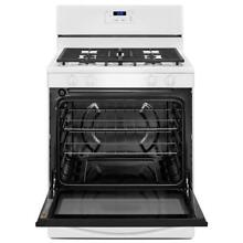 Whirlpool 5 1 cu  ft  Gas Range in White WFG320M0BW