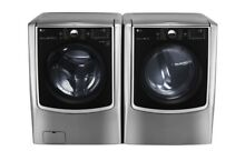 LG WM5000HVA DLEX5000V Graphite Steel Front Load Washer and Steam Dryer Pair