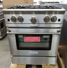 BLUESTAR PLATINUM SERIES 30  RANGE WITH INTERCHANGEABLE GRIDDLE AND CHARBROILER
