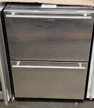 U LINE 1000 SERIES 24  BUILT IN REFRIGERATOR DRAWERS STAINLESS STEEL