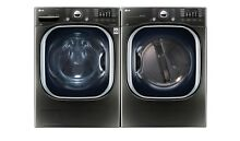 LG WM4370HKA DLEX4370K Black Stainless Front Load Washer and Steam Dryer