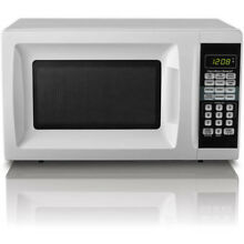 Microwave Oven 0 7 Cu Ft Counter Top Kitchen Home Cooking Warm LED Display White