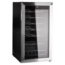 3 1 cu ft 28 Bottle Compressor Wine Fridge Beverage Cooler Stainless Steel Frame