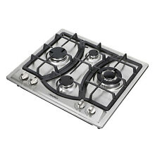 23 Kitchen Curve Stainless Steel Built In 4Burner NG LPG Gas Hob Cooktop WM46013